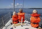 с детьми на яхте